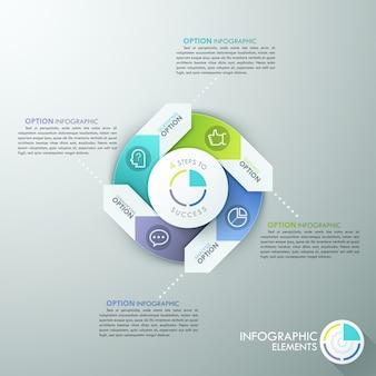 Nowoczesny transparent opcje infografiki