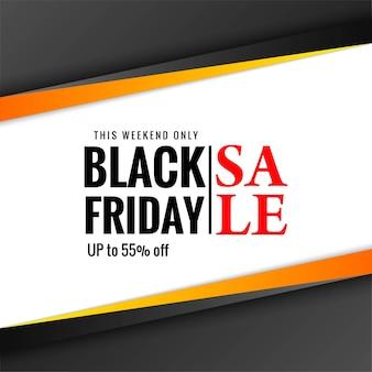 Nowoczesny transparent sprzedaż w czarny piątek