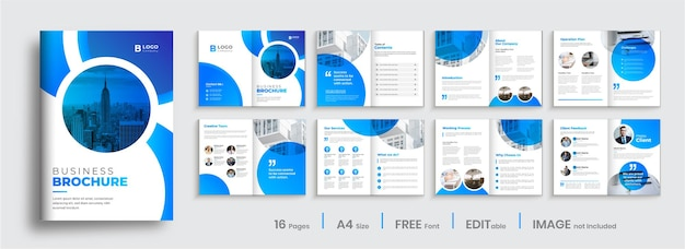 Nowoczesny układ szablonu broszury gradientu