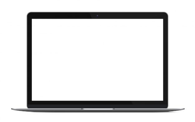 Nowoczesny ultrabook laptopa na białym tle