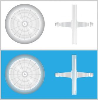 Nowoczesny uniwersalny filtr medyczny. 3d ilustracji wektorowych