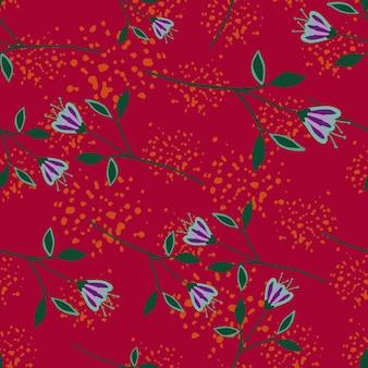Nowoczesny wildflower wzór na tle powitalny.