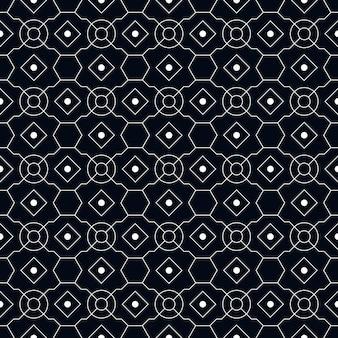Nowoczesny wzór geometryczny batik