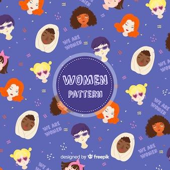 Nowoczesny wzór międzynarodowej grupy kobiet