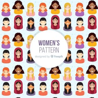 Nowoczesny wzór międzynarodowych kobiet