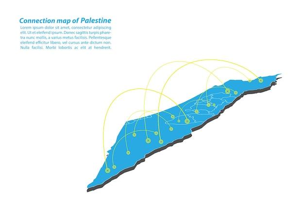 Nowoczesny z palestyńskiego projektu sieci połączeń map