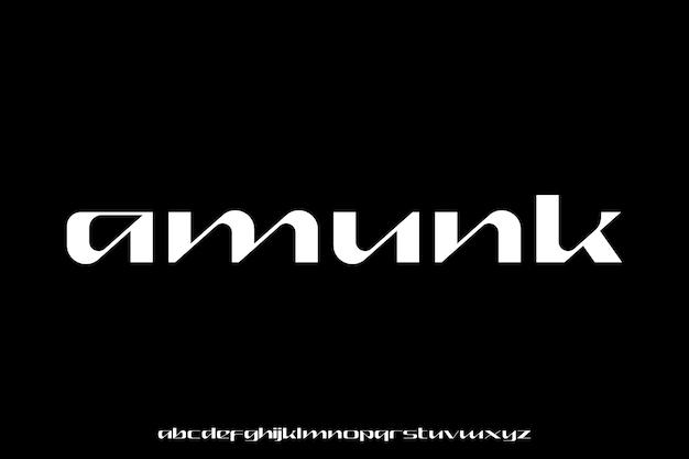 Nowoczesny zestaw alfabetu czcionki geometrycznej