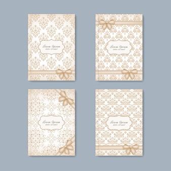 Nowoczesny zestaw broszur w stylu barokowym do twojego projektu.