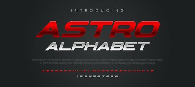 Nowoczesny zestaw czcionek alfabetu kursywa typografii