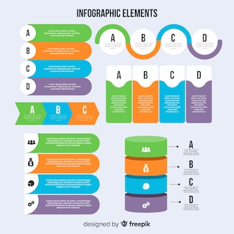 Nowoczesny zestaw elementów infografiki z płaska konstrukcja