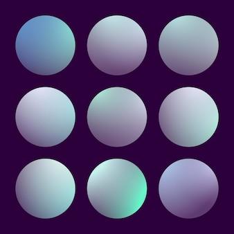 Nowoczesny zestaw gradientu 3d z okrągłym abstrakcyjnym tłem. kolorowe płynne okładki na kalendarz, broszury, zaproszenia, karty. modny delikatny kolor. szablon z okrągłym gradientem dla ekranów i aplikacji mobilnej