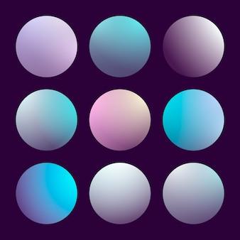 Nowoczesny zestaw gradientu 3d