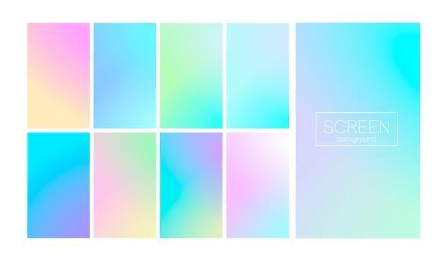 Nowoczesny zestaw gradientu streszczenie okładka