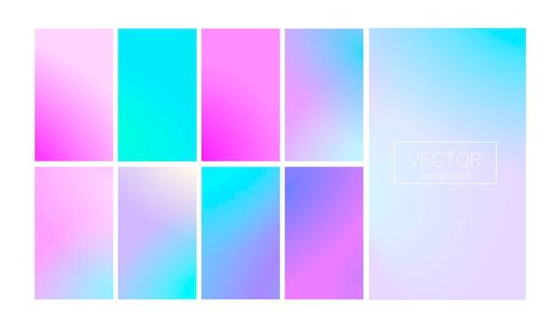 Nowoczesny zestaw gradientu z pionową abstrakcją