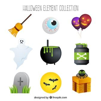 Nowoczesny zestaw halloween elementów