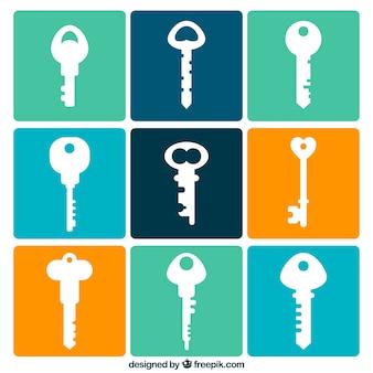 Nowoczesny zestaw kluczy