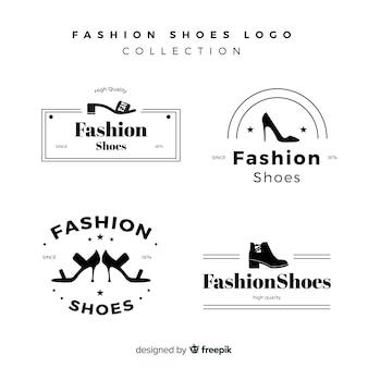 Nowoczesny zestaw kolorowych logotypów obuwia