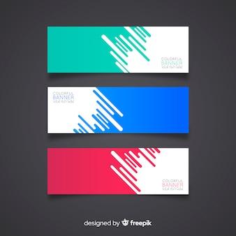 Nowoczesny zestaw kolorowych streszczenie banery