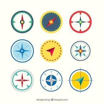 Nowoczesny zestaw kompas