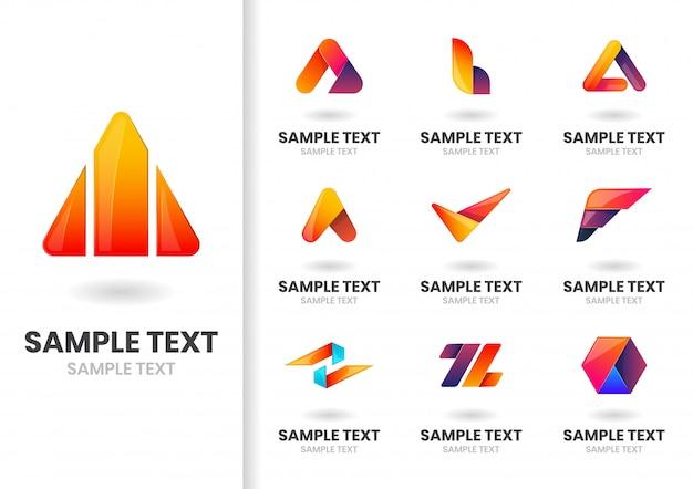 Nowoczesny zestaw logo
