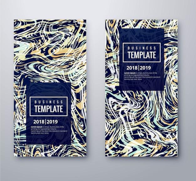 Nowoczesny zestaw szablonów kolorowych banerów