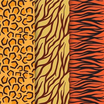 Nowoczesny zestaw wzorów zwierzęcych