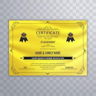 Nowoczesny żółty dyplom projektowania