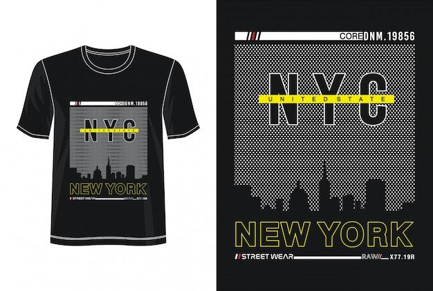 Nowojorska typografia do druku t-shirt