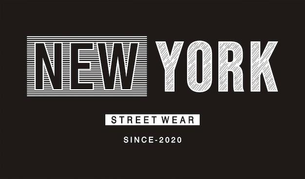Nowojorska typografia do koszulki z nadrukiem
