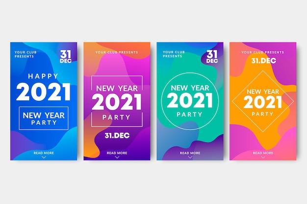 Noworoczne historie na instagramie z 2021 roku