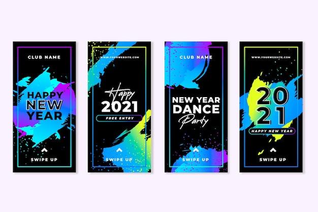 Noworoczne historie z imprez tanecznych 2021 na instagramie