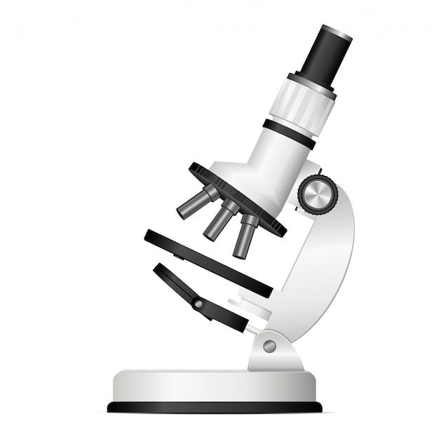 Nowożytna mikroskopu projekta ilustracja odizolowywająca na białym tle