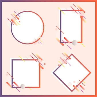 Nowożytni sztandary w różnorodnych kształtach ustawiają ilustrację