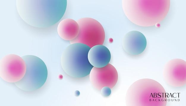 Nowożytny 3d bąbli abstrakta tło