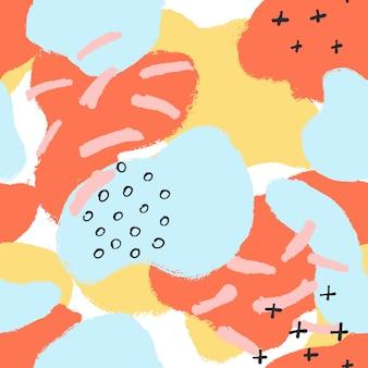 Nowożytny abstrakcjonistyczny bezszwowy wzór w memphis stylu.