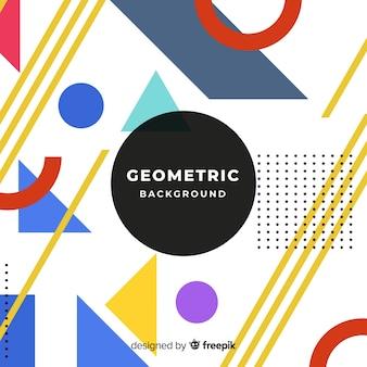 Nowożytny abstrakcjonistyczny tło z geometrycznym projektem