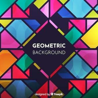 Nowożytny abstrakcjonistyczny tło z geometrycznymi kształtami