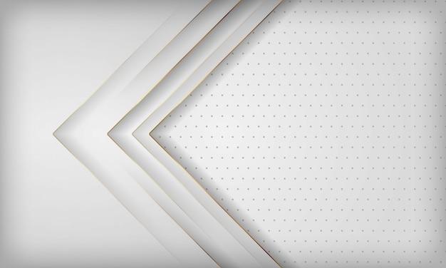 Nowożytny biały abstrakcjonistyczny tło z złotą kreskową dekoracją.