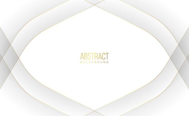 Nowożytny biały złoty abstrakcjonistyczny tło