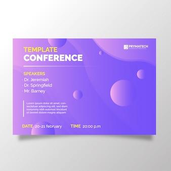 Nowożytny biznesowy konferencyjny szablon z abstrakcjonistycznym tłem