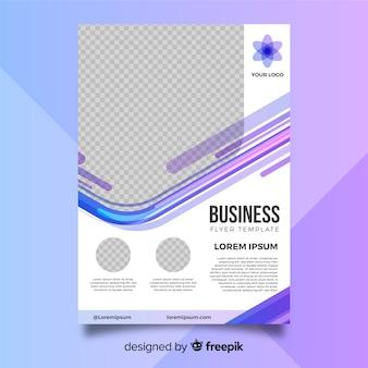 Nowożytny biznesowy ulotka szablon z abstrakcjonistycznymi kształtami