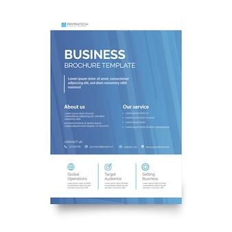 Nowożytny błękitny biznesowy broszurka szablon