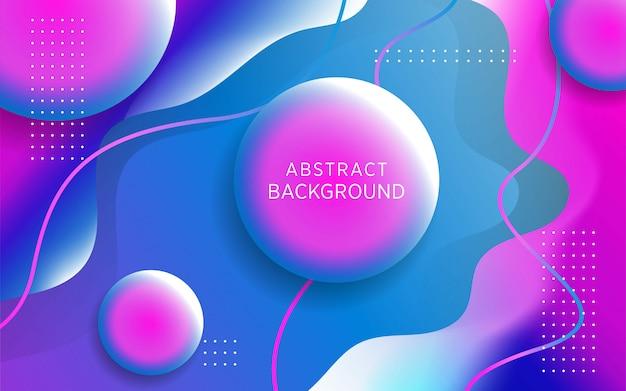 Nowożytny ciekły purpurowy i błękitny gradientowy abstrakcjonistyczny tło