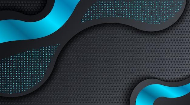 Nowożytny czarny błękitny techno korporacyjnego biznesu tło