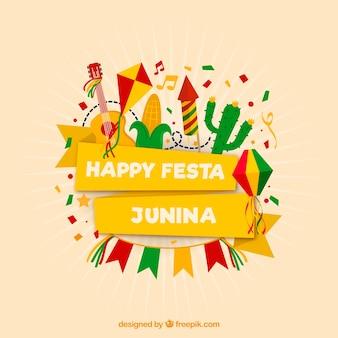 Nowożytny festa junina tła projekt