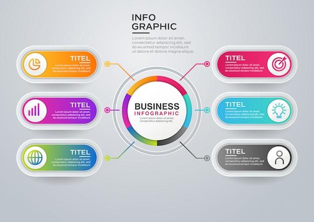 Nowożytny infographic szablon
