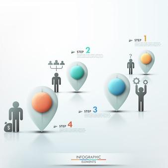 Nowożytny infographics procesu szablon