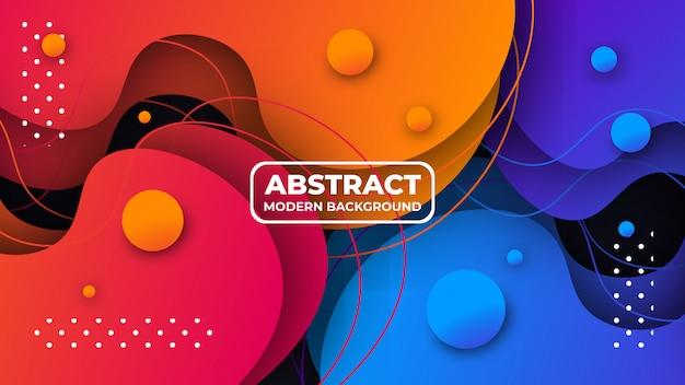 Nowożytny kreatywnie kolorowy gradientowy abstrakcjonistyczny tło