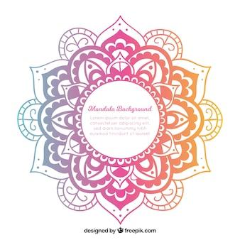 Nowożytny mandala tło z kolorowym stylem