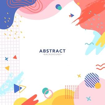 Nowożytny memphis kolorowy abstrakcjonistyczny tło